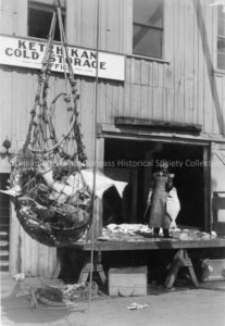Unloading Halibut at Ketchikan Cold Storage, circa 1930. Ketchikan Museums: Elliot L. Fisher image, Tongass Historical Society Collection, THS 76.1.13.13